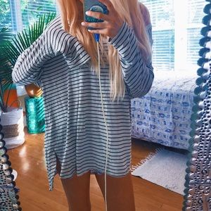 American Eagle Outfitters Tops - American Eagle Oversized Striped Tunic 🌿